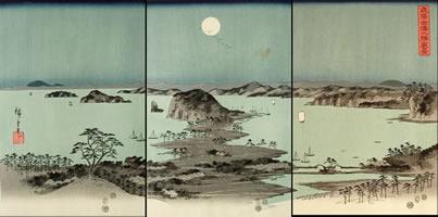 Panorama of the Eight Views of Kanazawa under a Full Moon
